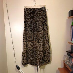 Leopard Cheetah Maxi Skirt Size Small